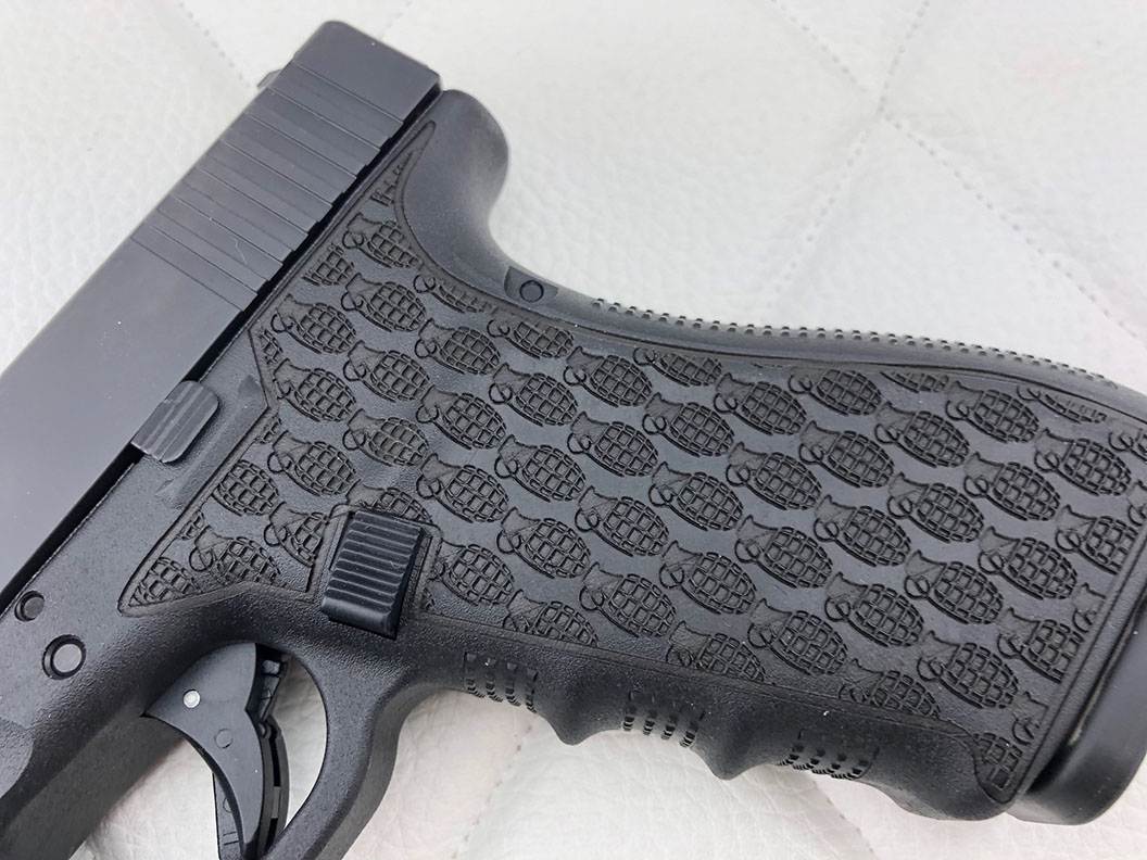 laser stippling on glock