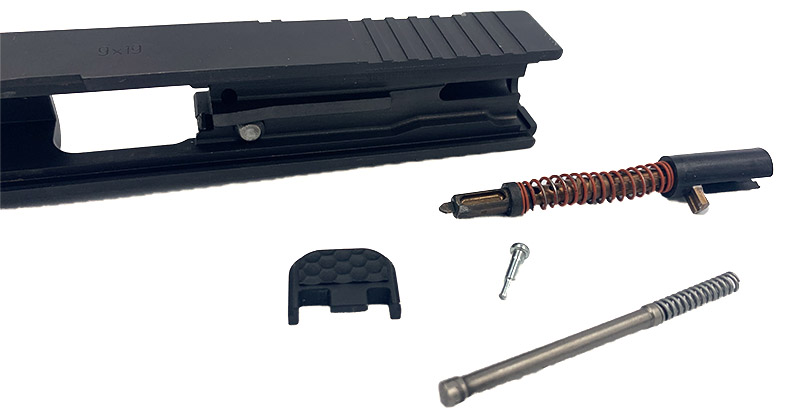 removing Glock firing pin and extractor depressor plunger