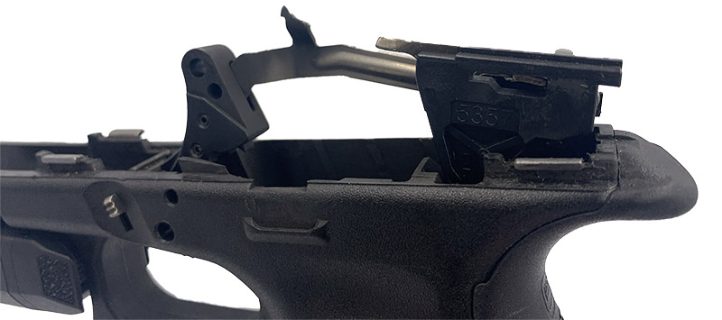 removing Glock trigger assembly