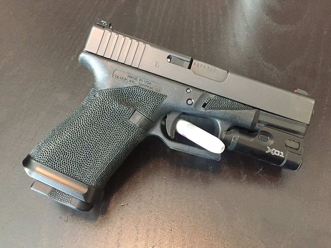 stippling grip pistol